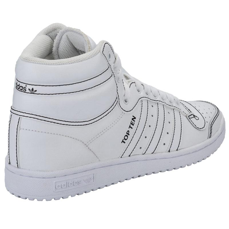 Boty Adidas Originals Mens Top Ten HI Trainers White