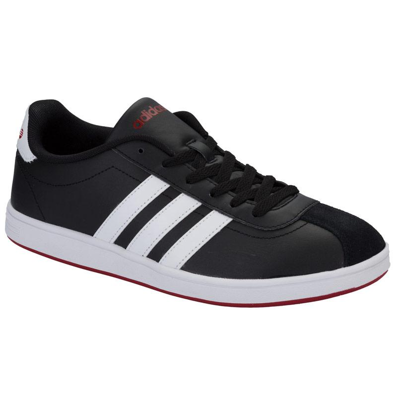 Boty Adidas Neo Mens VL Court Trainers Black white red