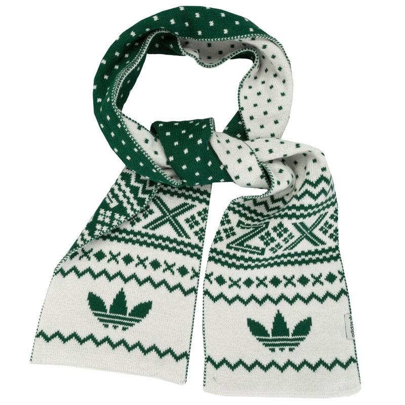 Adidas Originals ZX Fairisle Scarf White Green