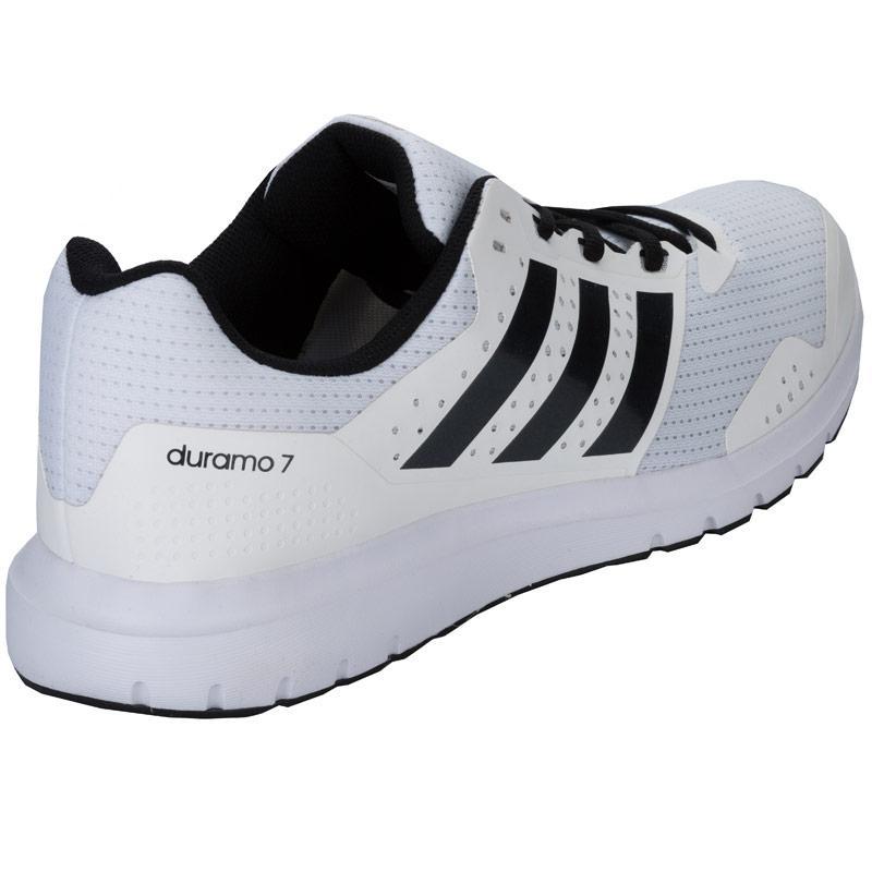 Boty Adidas Mens Duramo 7 Running Shoes White, Velikost: 12 (M)