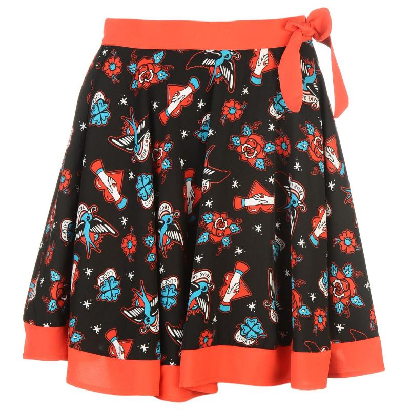 Sukně Banned Bow Skirt Ladies True Love
