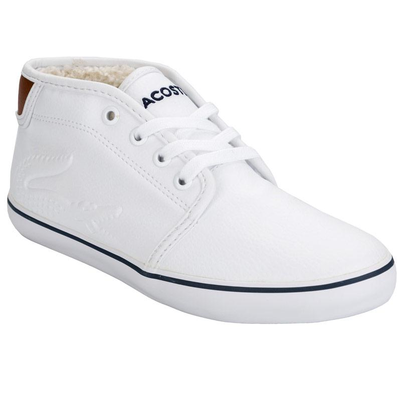 Boty Lacoste Children Boys Ampthill Chunky Trainers White
