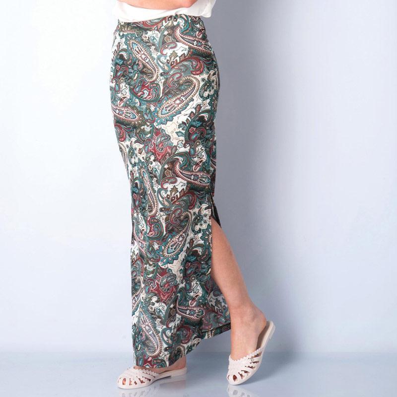 Sukně Only Womens Gerda Long Slit Skirt White