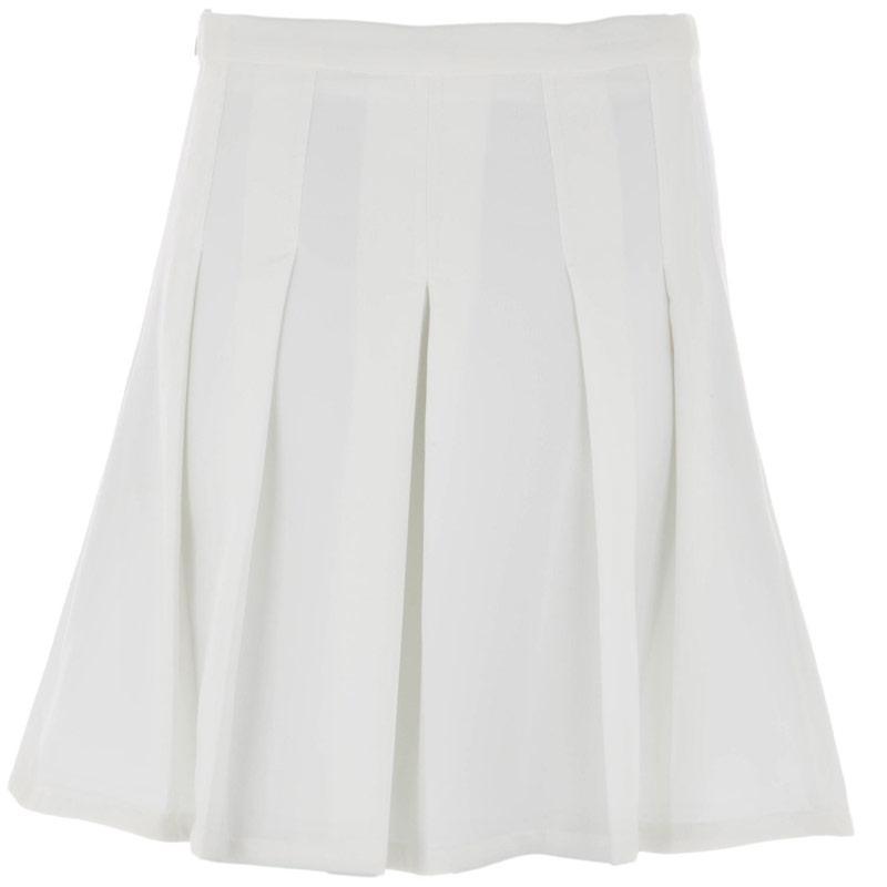 Sukně Glamorous Womens Pleat Skirt Cream