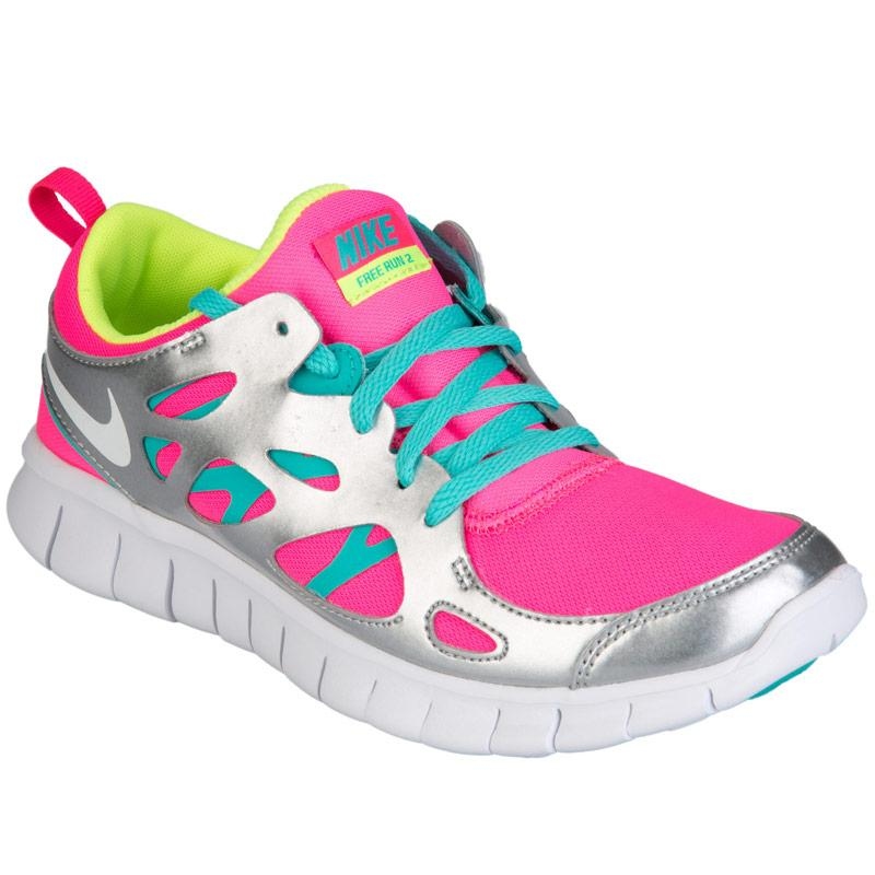 Nike Junior Girls Free Run 2 Trainers Pink, Velikost: UK5,5 (euro 38,5)