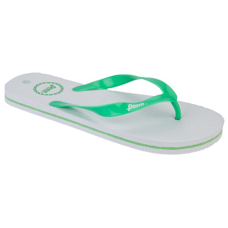 Boty Penn Mens Laurel Flip Flops White Green