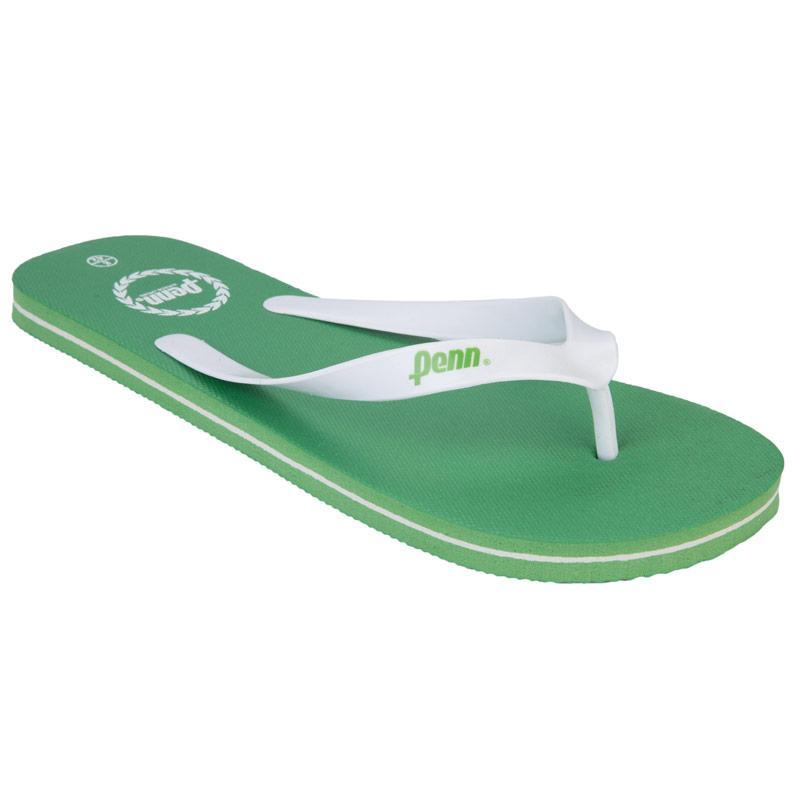 Boty Penn Mens Laurel Flip Flops Green White