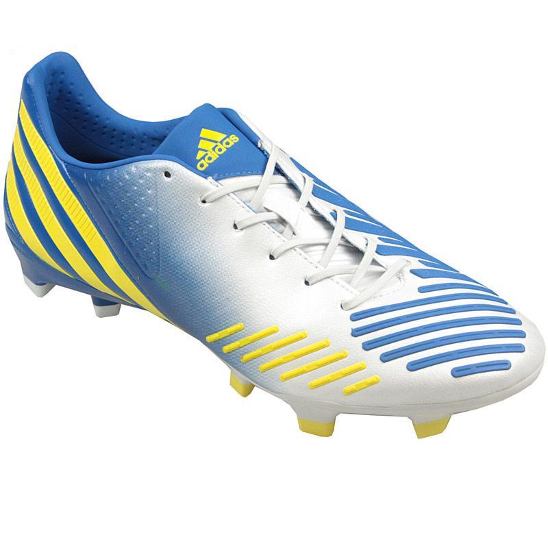 Adidas Mens Predator LZ TRX FG Football Boots White yellow