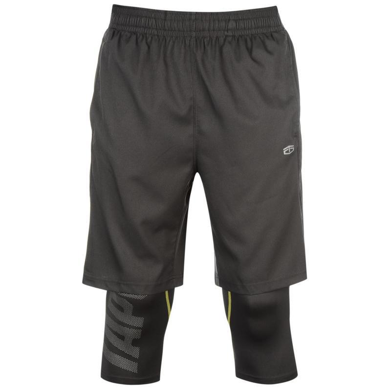 Kraťasy Tapout 2in1 Shorts Mens Asphalt