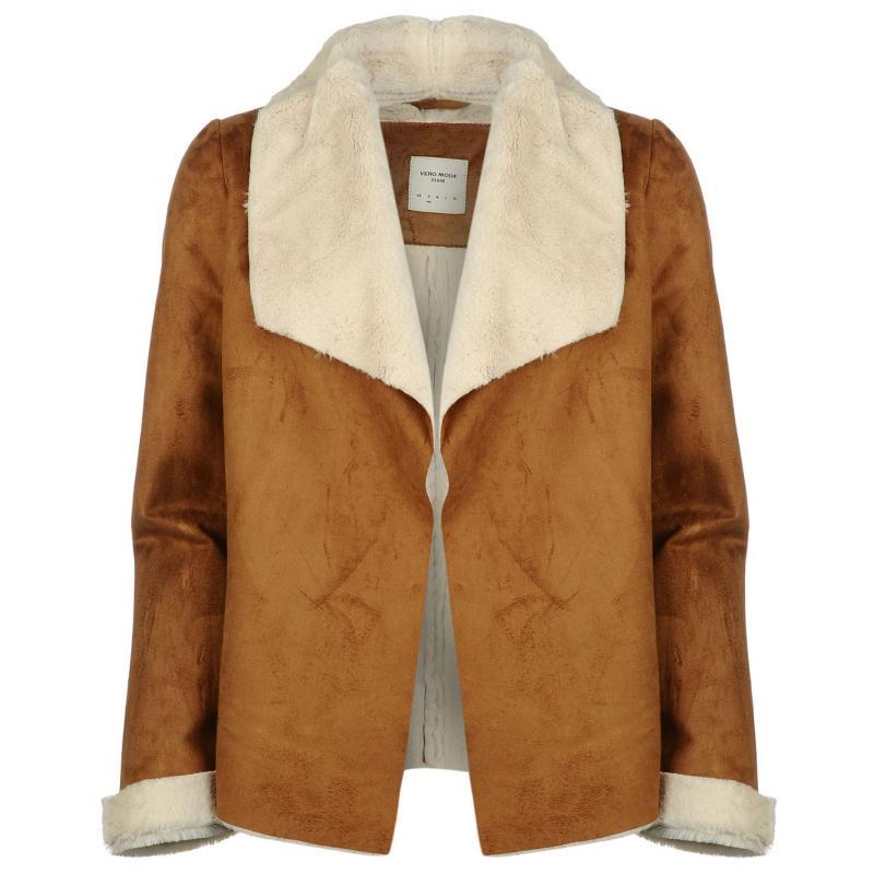 Bunda Vero Moda Janice Shrug Jacket Cognac