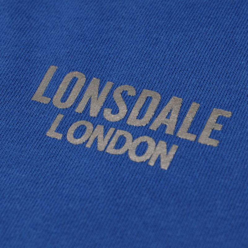 Mikina Lonsdale Sport Zip Hoody Mens Blue, Velikost: S