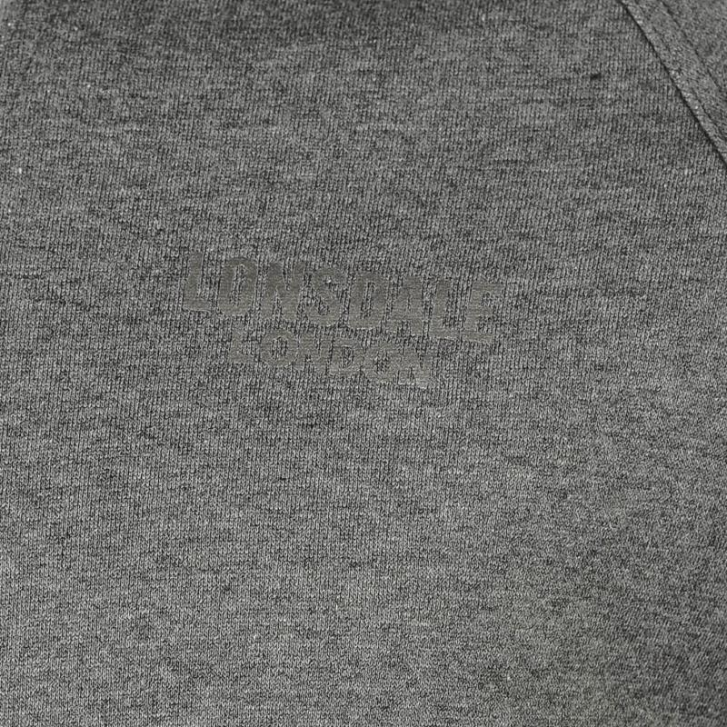 Mikina Lonsdale Sport Zip Hoody Mens Charcoal Marl, Velikost: M