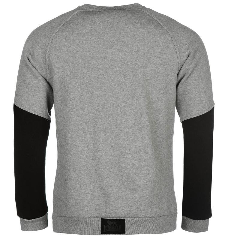 Mikina Lonsdale Sport Crew Sweater Mens Black, Velikost: M