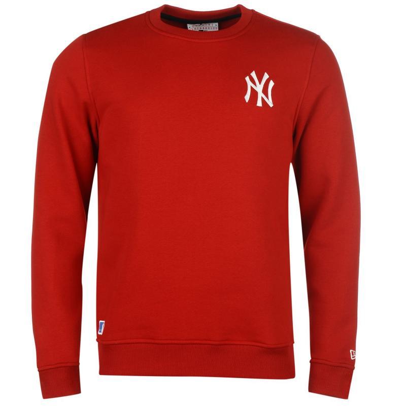 Mikina New Era New York Yankees Crew Neck Sweater Yankees Red
