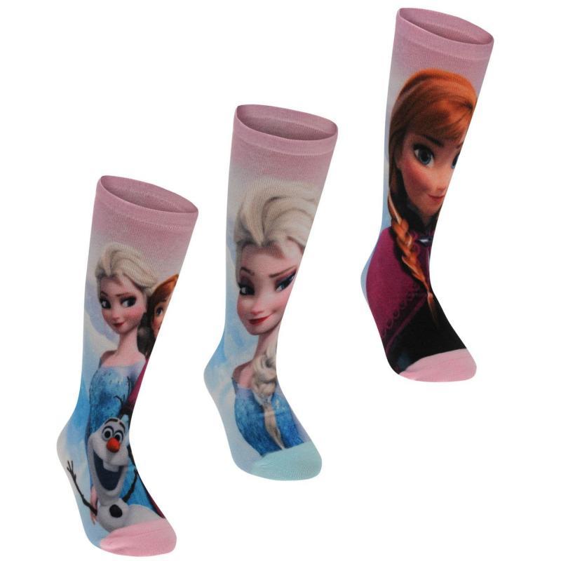 Character 3 Pack Socks Childrens Disney Frozen
