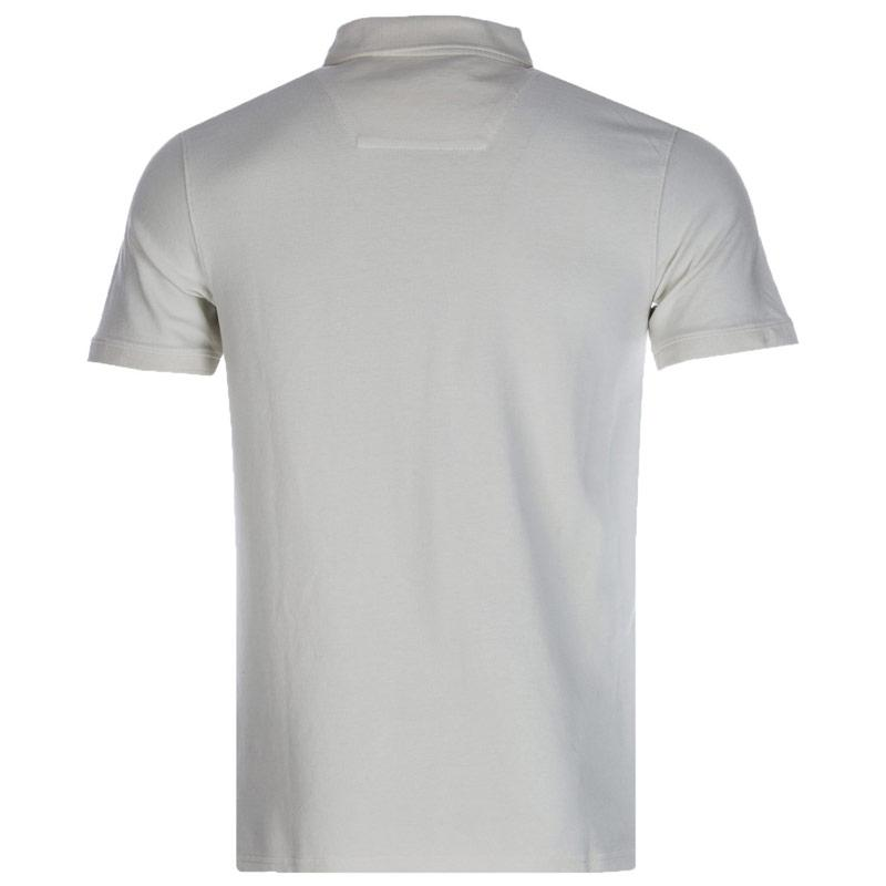 Timberland Mens Slim Millers River Polo Shirt Off White