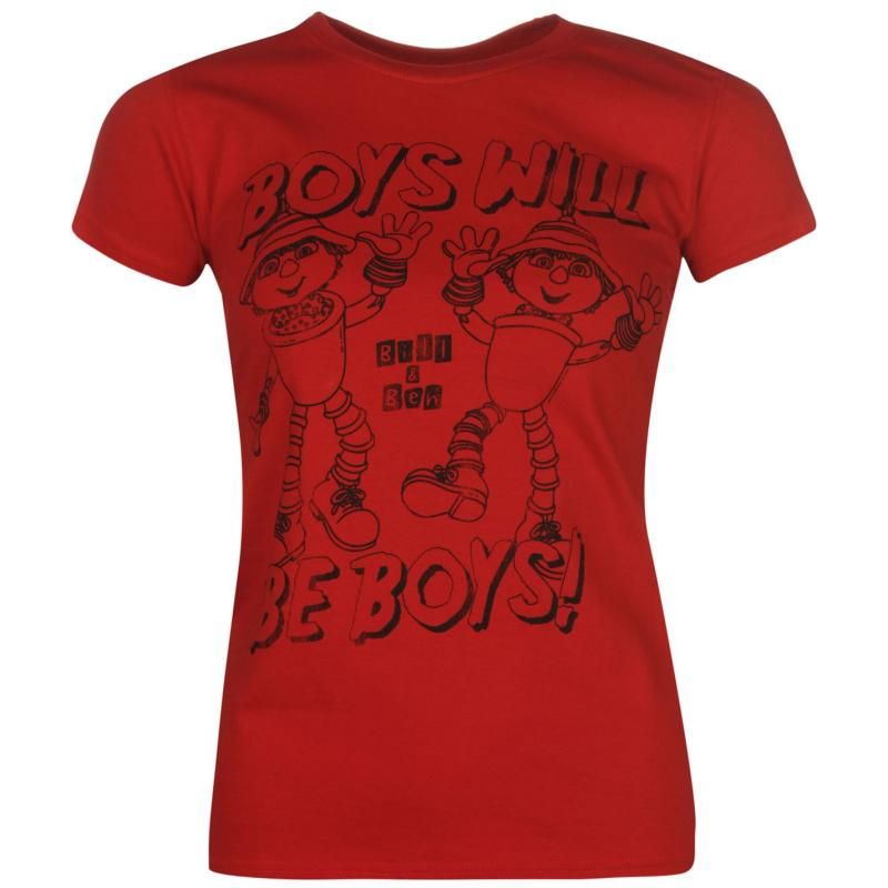 Too Too Late to Dye Young Printed T Shirt Ladies Bill and Ben, Velikost: 12 (M)