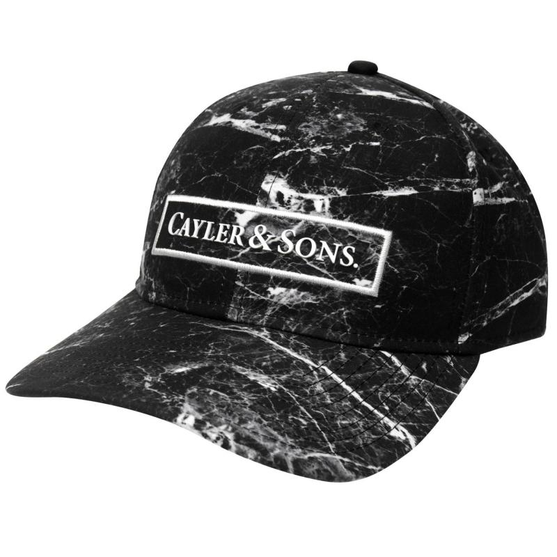 cayler and sons infinity curved baseball cap mens marble white. Black Bedroom Furniture Sets. Home Design Ideas