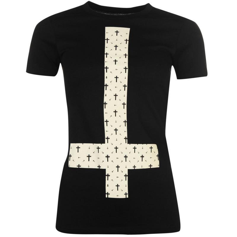 Goodie Two Sleeves Goodie Printed T Shirt Ladies Upside Down