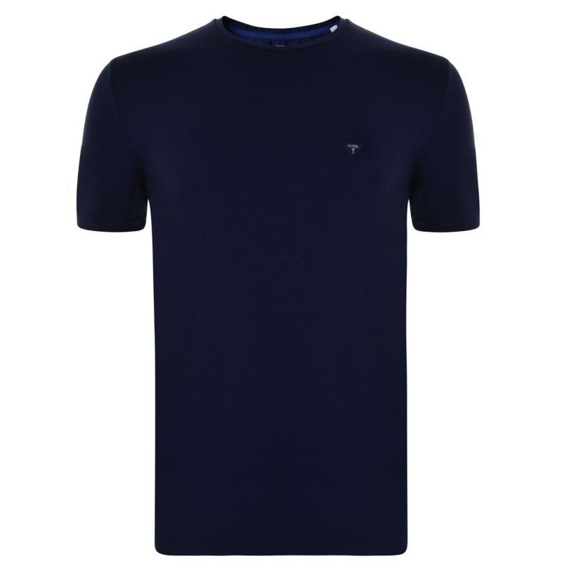 Tričko Guess Logo Mens T Shirt Blue