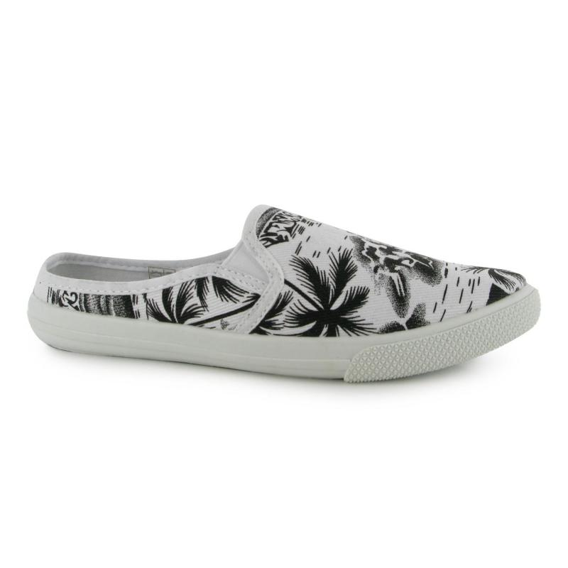 Lee Cooper Slip On Textile Ladies Shoes Palm Print, Velikost: UK6 (euro 39)