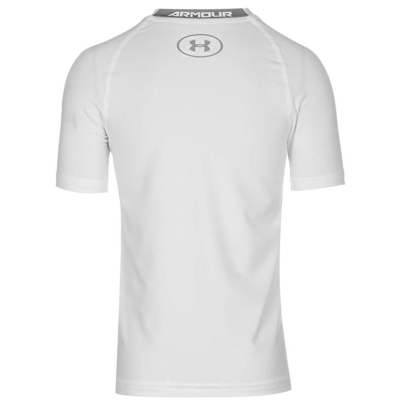 Under Armour Short Sleeve T Shirt Junior Boys White