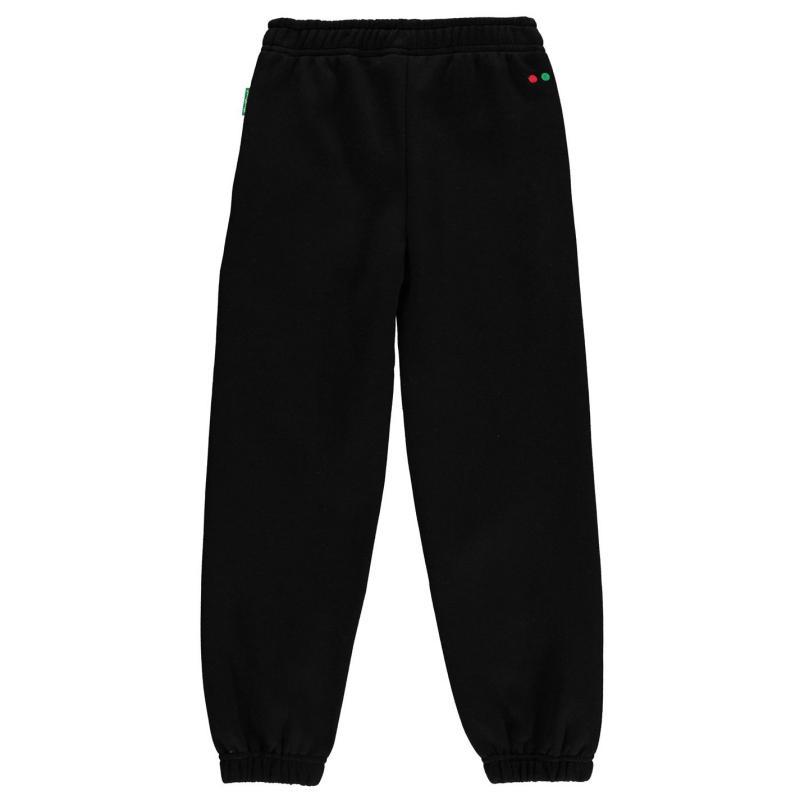Tepláky Kickers Fleece Jogging Bottoms Junior Boys Grey Marl