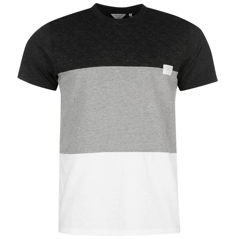 Tričko Jack and Jones Core Quin Quilted T Shirt White