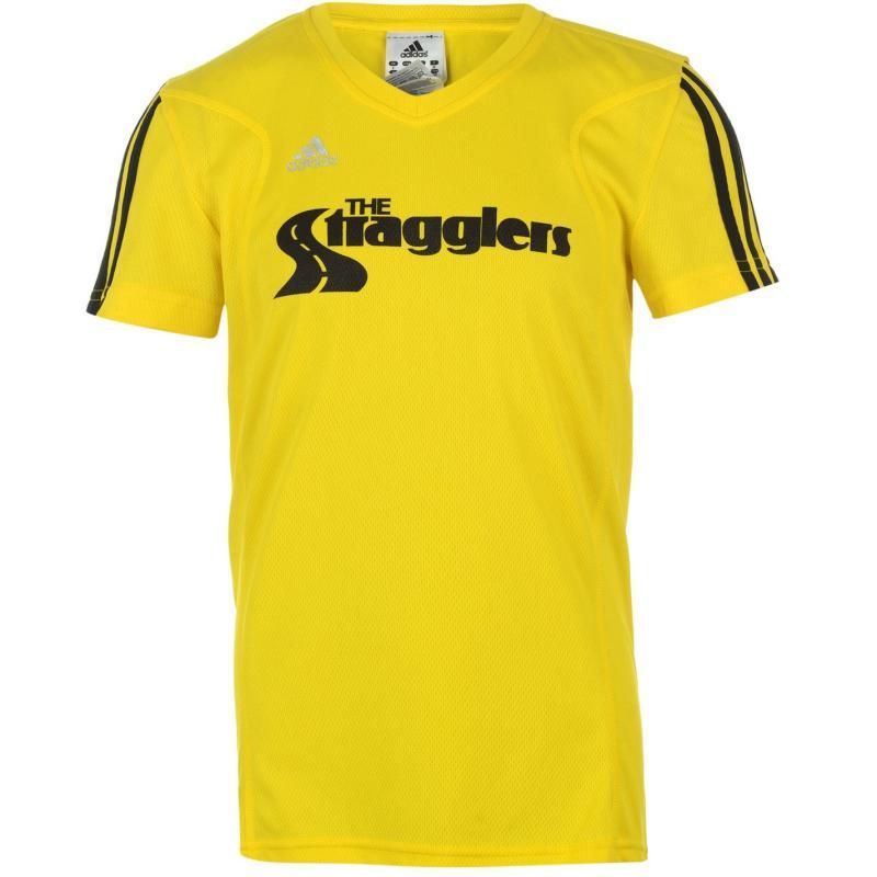 adidas Stragglers Tee Shirt Ladies Yellow