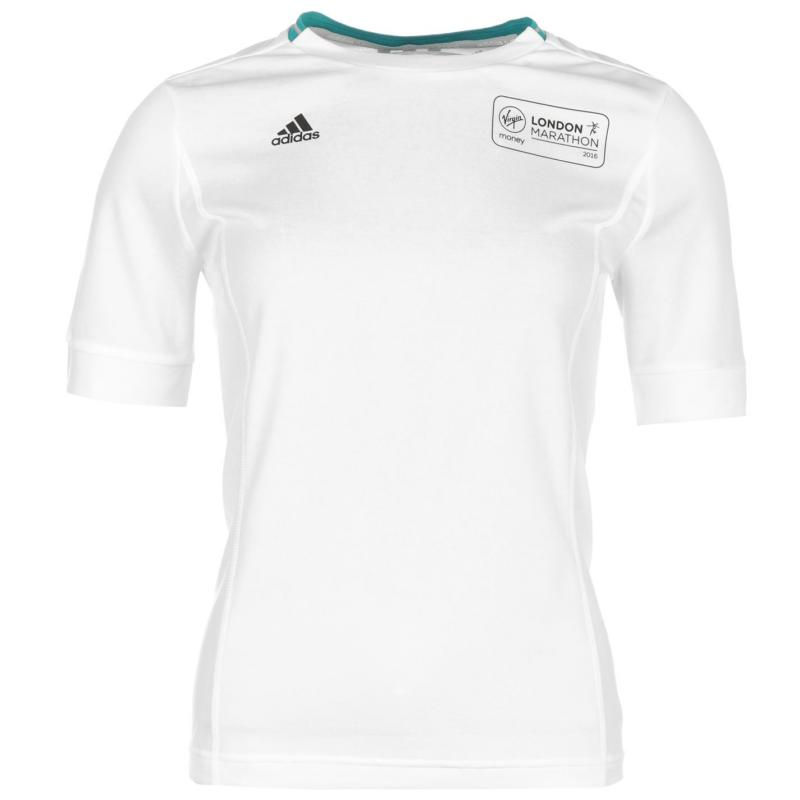 adidas Supernova London Marathon 2016 Short Sleeve Top Ladies White/Navy
