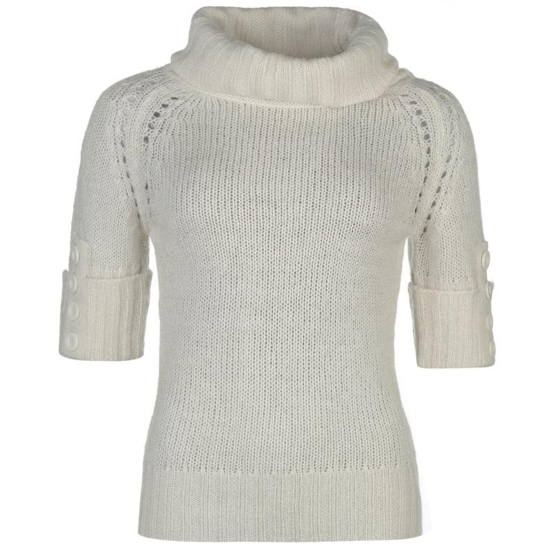 Svetr Lee Cooper Essential Cowl Knit Jumper Ladies Winter White
