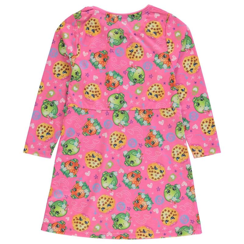 Šaty Character Long Sleeve Dress Infant Girls Pink AOP