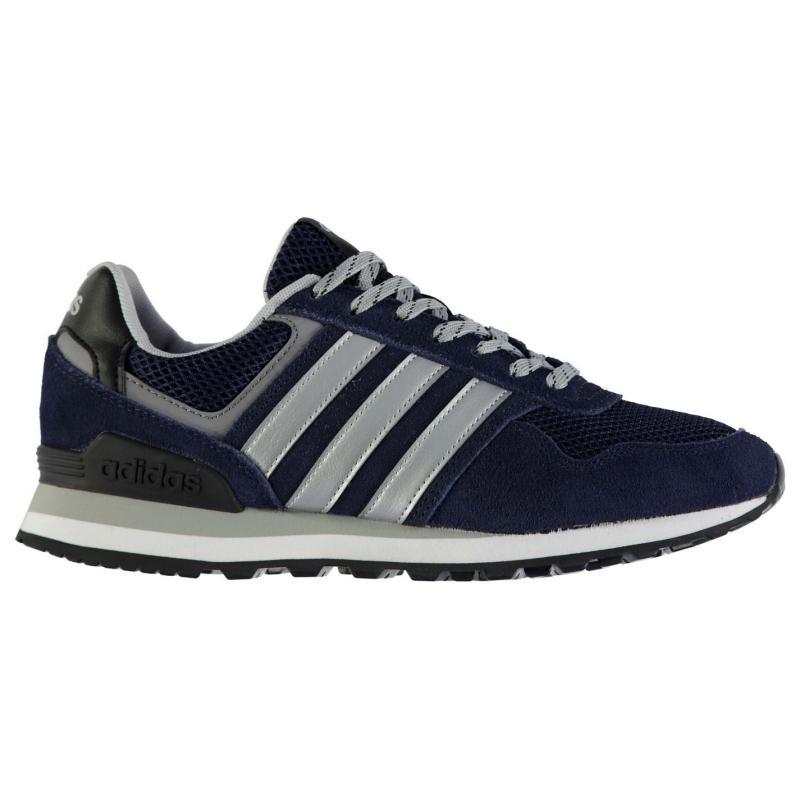 adidas 10k Mens Trainers DkGrey/Wht/Silv