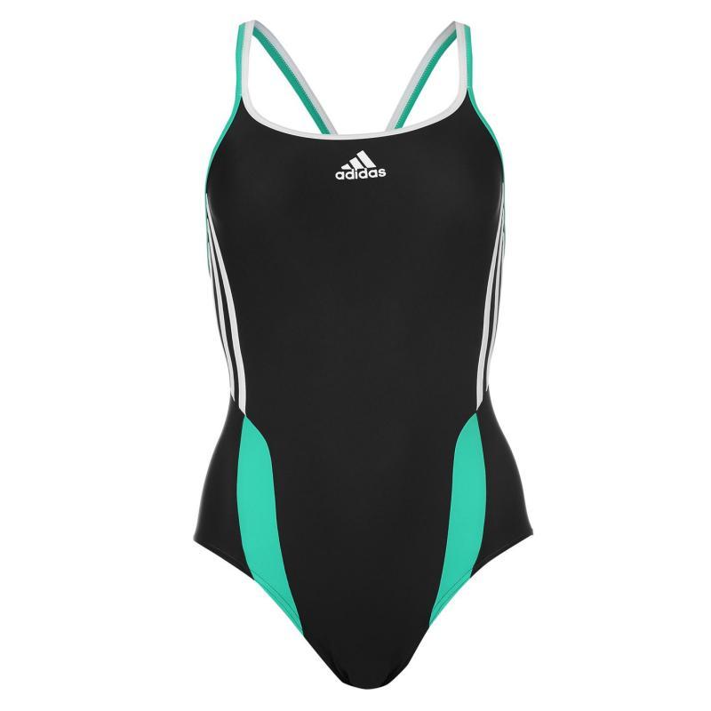 Plavky adidas Inspire Swimsuit Ladies Black/Green