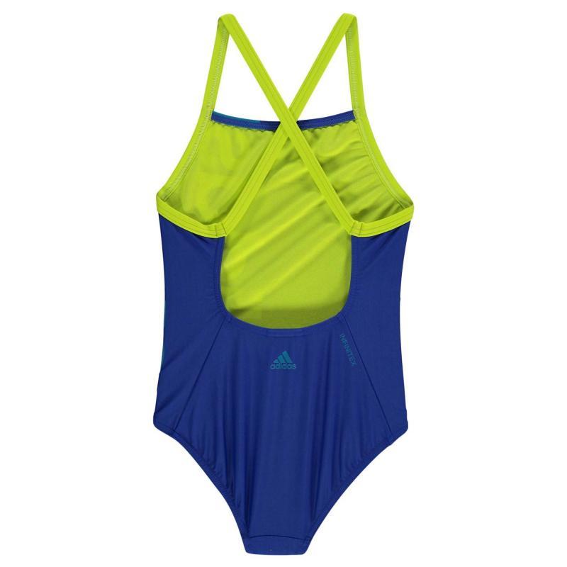 adidas Logo Swimsuit Girls Black/Orange