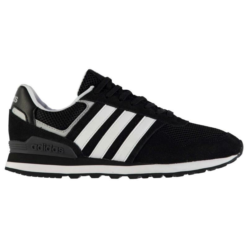 adidas 10k Mens Trainers Black/Whit/Silv