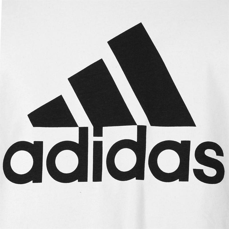 Tričko adidas Essential Big Logo T Shirt White/Black, Velikost: XXL