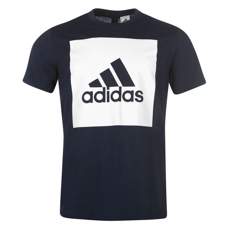 Tričko adidas Essential Big Logo T Shirt Grey Heather, Velikost: S