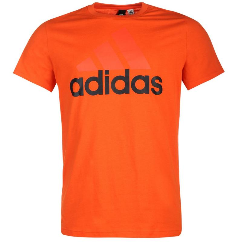 Tričko adidas Essential Logo T Shirt Mens White, Velikost: L