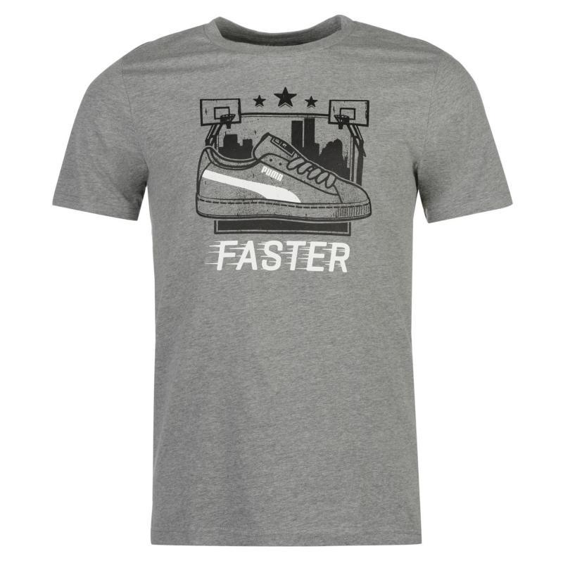 Tričko Puma Retro QTT T Shirt Mens Grey