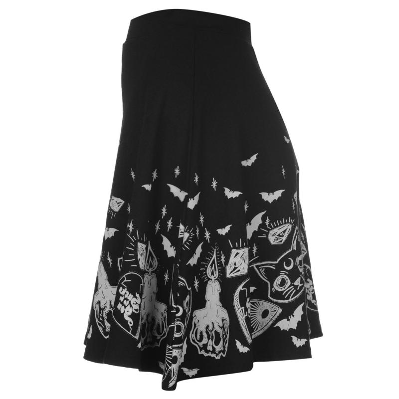 Šaty Fearless Illustration Fearless Skater Skirt Ladies Weird...