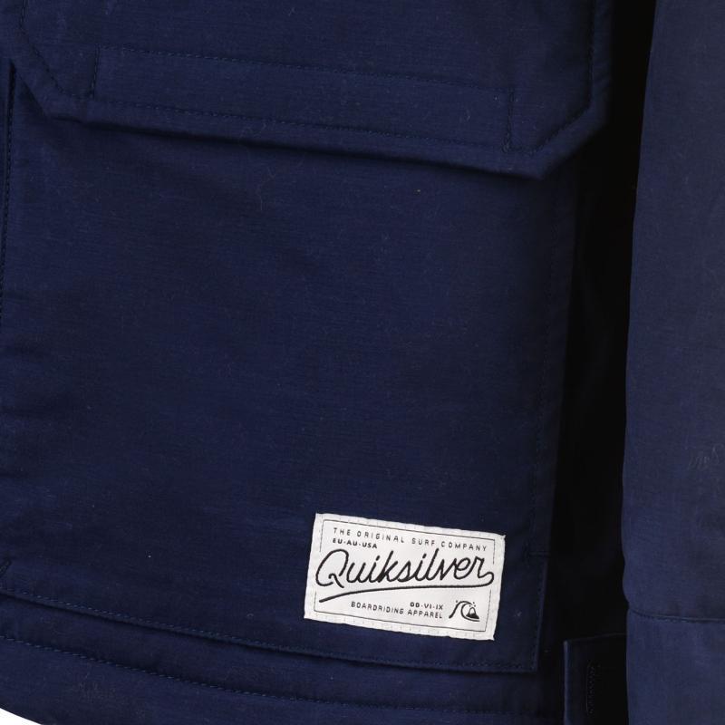 Bunda Quiksilver Long Bay Jacket Medieval Blue, Velikost: S
