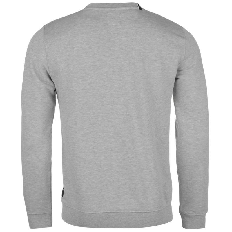 Mikina Replay Logo Crew Sweatshirt Mens Grey Melange