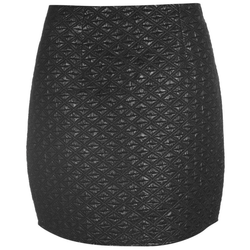 Sukně Mystify Metal Embossed Skirt Ladies Black