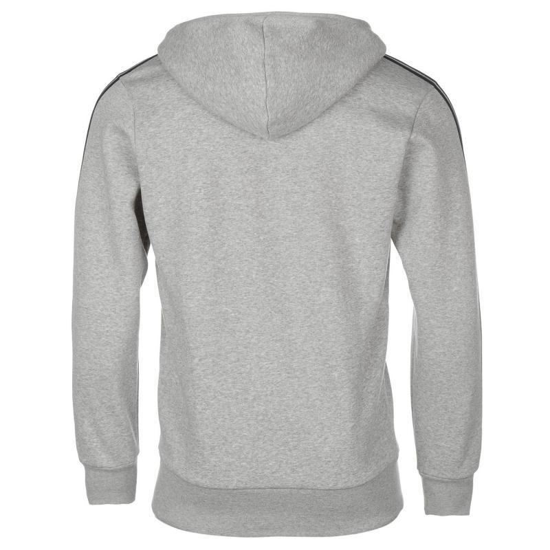 Mikina adidas Essentials 3 Stripe Logo Hoodie Grey Heather