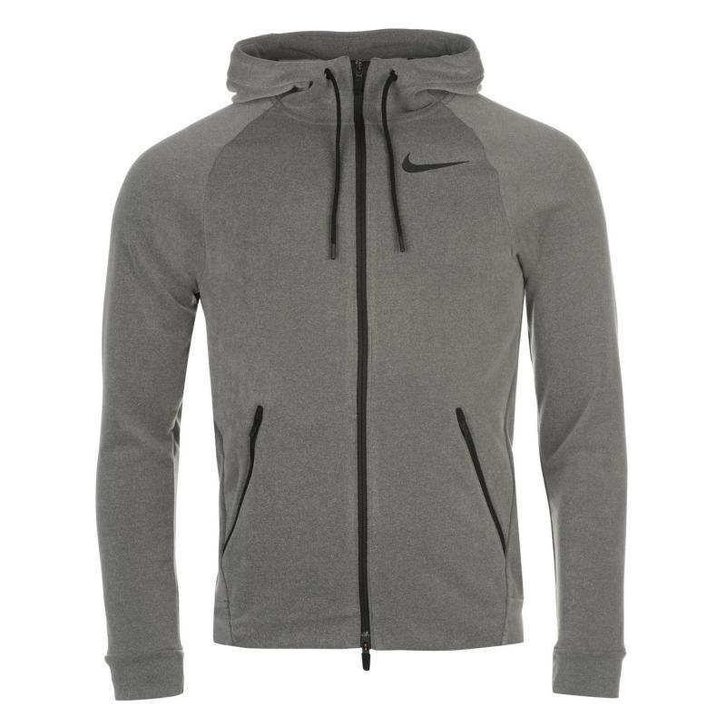 Mikina Nike Hyper Fleece Hoody Mens Grey, Velikost: XL