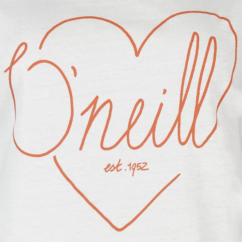 ONeill Love Short Sleeve T Shirt Ladies Powder White