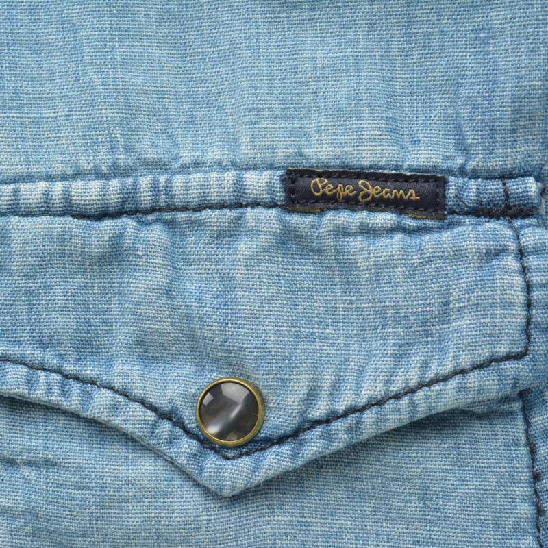 Košile Pepe Jeans Carson Denim Shirt Stone Wash