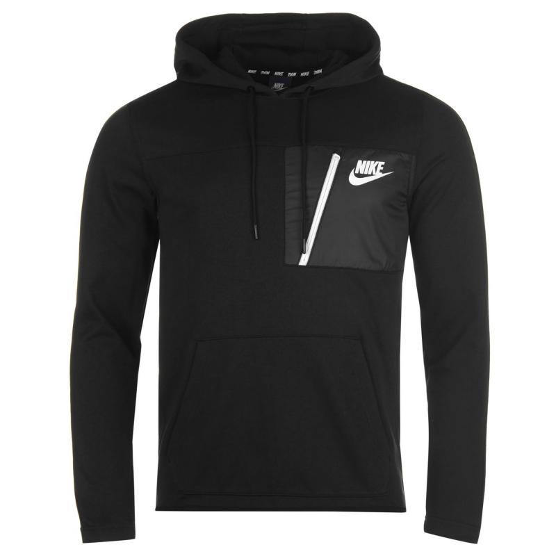 Mikina Nike AV15 Fleece Hoodie Mens Black, Velikost: S