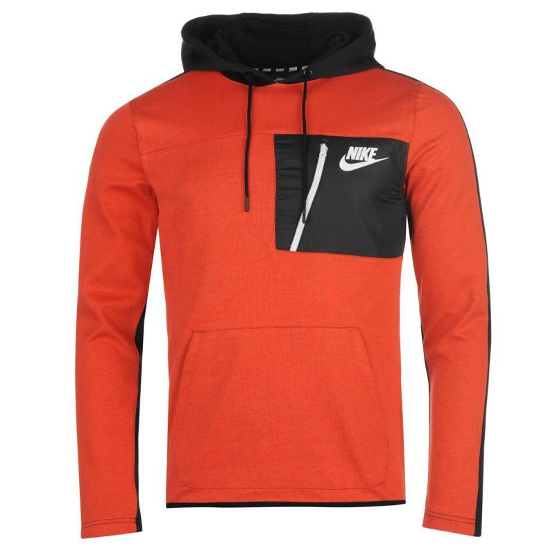 Mikina Nike AV15 Fleece Hoodie Mens Orange, Velikost: S